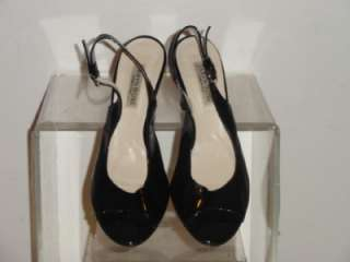 Taryn Rose Black Patent Leather Slingback Heels Pumps Shoe Shoes Size