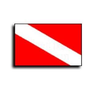 Diver Down   24 x 36 Nylon Nautical Skin Diver Message Flag