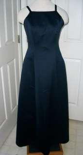 ROBERTA long navy blue dress prom bridal sz 6 open back