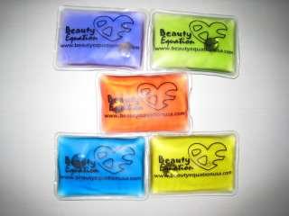 Green Yellow Red Blue Purple 5 Reusable Heat Gel Packs Hand Warmer Pad