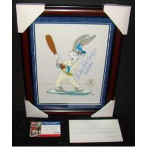 Willie McCovey SIGNED Framed LE SERICEL Bugs Bunny PSA
