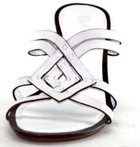 Cole Jenna Wedge Slides Womens Shoes White Sandals 10