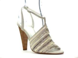Calvin Klein Rene Womens Shoes Sandals Beige Heels 7