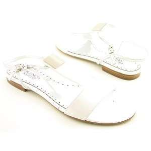 Franco Sarto Retro Womens Shoes Flat Sandals White 5.5