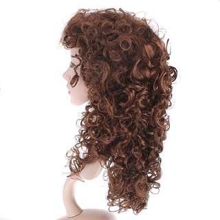 Fashion curls Stylish 22 long curly wavy hair wig Perruque W008