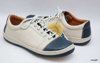 New Born *SANTIAGO* Leather Sporty Oxfords Sneakers Lace Up ~White