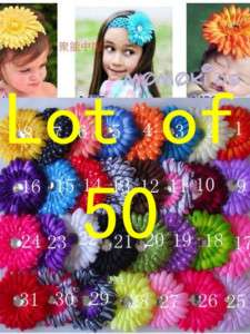 WOW LOT OF 50 Girls Baby Daisy FlowerS Hair Bow clip 4