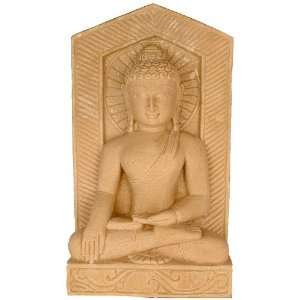 Buddha in Bhumisparsha Mudra   Stone Sculpture Home
