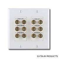 MODERNO SURROUND SOUND WALLPLATE 5.1 CHANNELS GP TERM TRIM PLATE BRAND