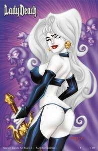 Lady Death Sketch Card All Stars #1 Surprise Premium Variant Roger