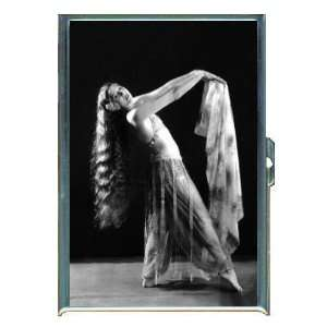 Vintage Dancing Girl Long Hair ID Holder, Cigarette Case