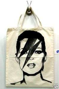 KATE MOSS Fashion SuperModel Punk Rock Canvas Tote Bag