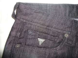 New MENS GUESS SKINNY BLACK RINSE WASH JEANS 31 33 $108