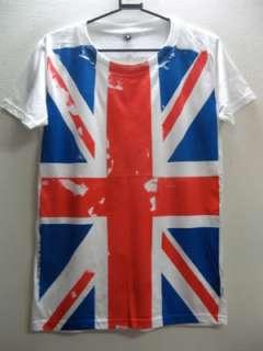 UK British Union Jack Flag Punk Rock Metal T Shirt M