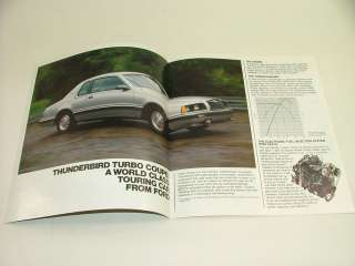 1983 Ford Thunderbird Turbo Coupe Sales Brochure