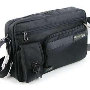 pocket Nylon black shoulder bag purse durable sundries A4 size