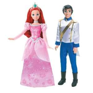 Disney Princess and Prince Ariel and Prince Eric Doll Set