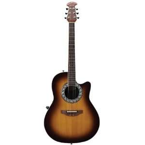 Ovation Vintage Lyrachord 1771VL   6 String Acoustic Guitar   Sunburst