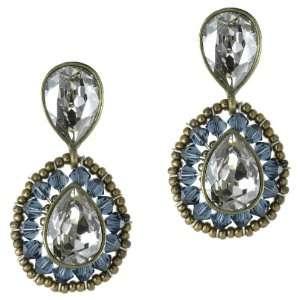 Double Drop Earrings, montana/gold plated Caleidoscopio Jewelry