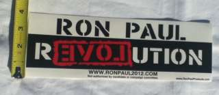 Ron Paul Revolution 2012 Bumper Sticker Decal NWO FED
