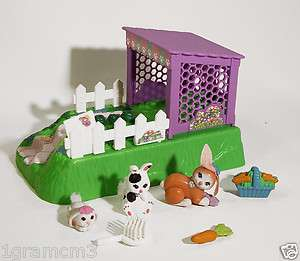 Littlest Pet Shop Pets On The Move Hopn Hide Bunnies Kenner 1995