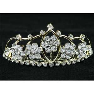 New Bridal Flower Girl Prom Party Crystal Tiara Comb 60 Beauty