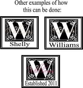 Custom Name Monogram Letter Vinyl Decal Wall Stickers Lettering Words