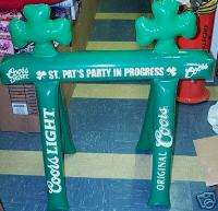 Coors Light St Patricks Day Sawhorse Inflatable Sign