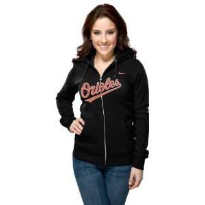 Baltimore Orioles Womens Nike Black Classic Full Zip