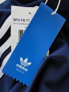 NEW Mens ADIDAS ORIGINALS SPO FB Soccer TRACK TOP Navy Blue & White