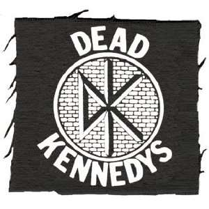 Dead Kennedys DK Logo Black White Stitch Name Logo Patch
