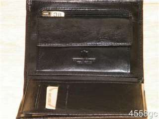ITALIAN DESIGNER LEATHER FRENCH PURSE WALLET NEW IN BOX