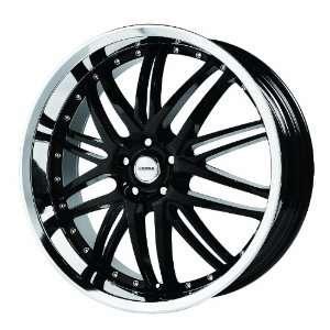 Verde Custom Wheels Kaos Black Wheel with Chrome Lip (18x8