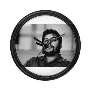 Che Guevara Smoking Political Wall Clock by CafePress