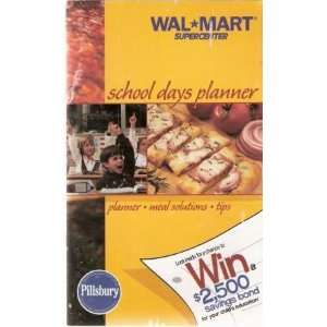 School Days Planner, Meal Solutions, Tips, Pillsbury, Wal