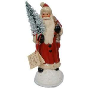 Ino Schaller 9 inch Red Coat Paper Mache Candy Holder