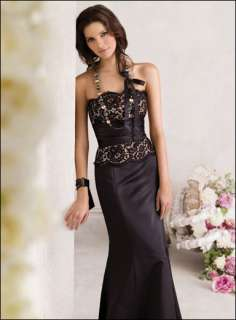 Elegant Lace Long Formal Bridesmaid Prom Ball Eveni​ng Dress Gown