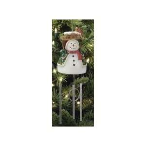 Ornament  8.5 Snowman Ornament with Solar Wind Chime