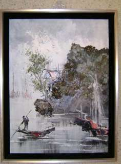 Oil Painting on canvas, San Francisco Artist from China, boats/water