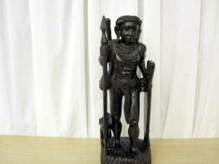 Antique Teak Wood Statues Male & Female Asian Tribal Figures 18 One