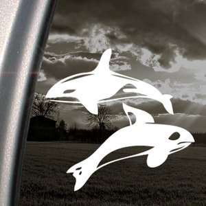 Orca Killer Whales Decal Car Truck Window Sticker