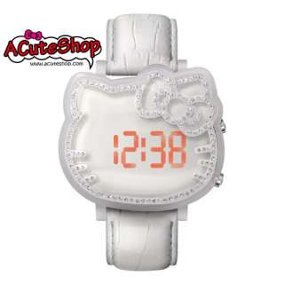 Chouette Hello Kitty LED Display Watch CRK1002W Leather