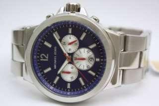New Michael Kors Jet Set Blue Men Chrono Watch MK8171