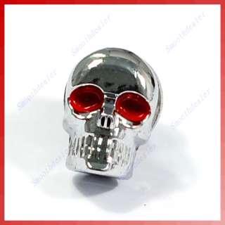 10 X Chrome Skull License Plate Windshield Bolts Screw