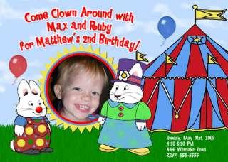 CARNIVAL CIRCUS CUSTOM BIRTHDAY INVITATIONS UPRINT FAST