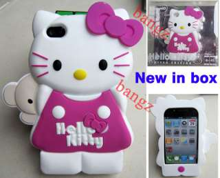 Hot Pink Hello Kitty Silicone Case Cover Skin for iphone 4 4G 4S New