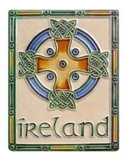 Irish Royal Tara Clara Ceramic Celtic High Cross New