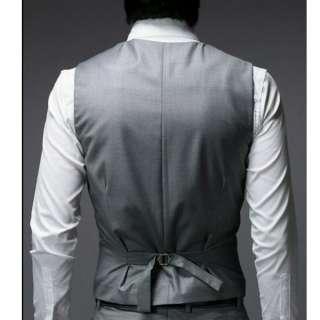 Mens Slim Fitted Elegant Tuxedo Suit Dress Vest Quality Waistcoat