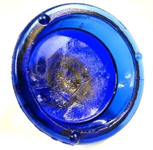 FENTON ART GLASS COBALT BLUE BIRD FIGURE ON FACTORY FONT
