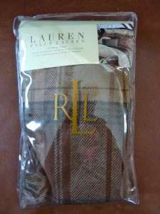 NIP $130 RALPH LAUREN SHETLAND MANOR PLAID LODEN GREEN STANDARD PILLOW
